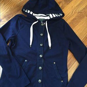 Laure Jean Co. navy blue hoodie.